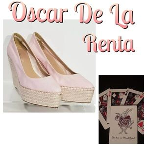 Oscar De la Renta Paloma Wedge Pointed Toe Heels